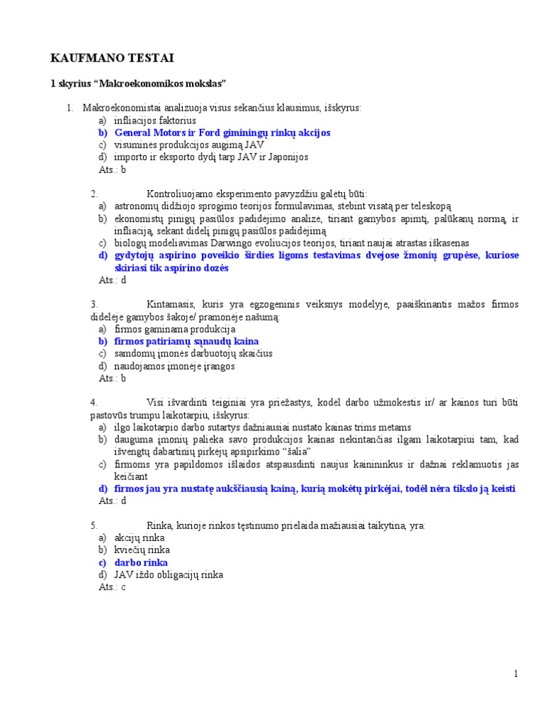 opcionų prekybos testo klausimai