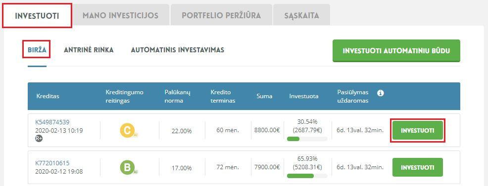 investuoti į grynųjų pinigų srautus internete