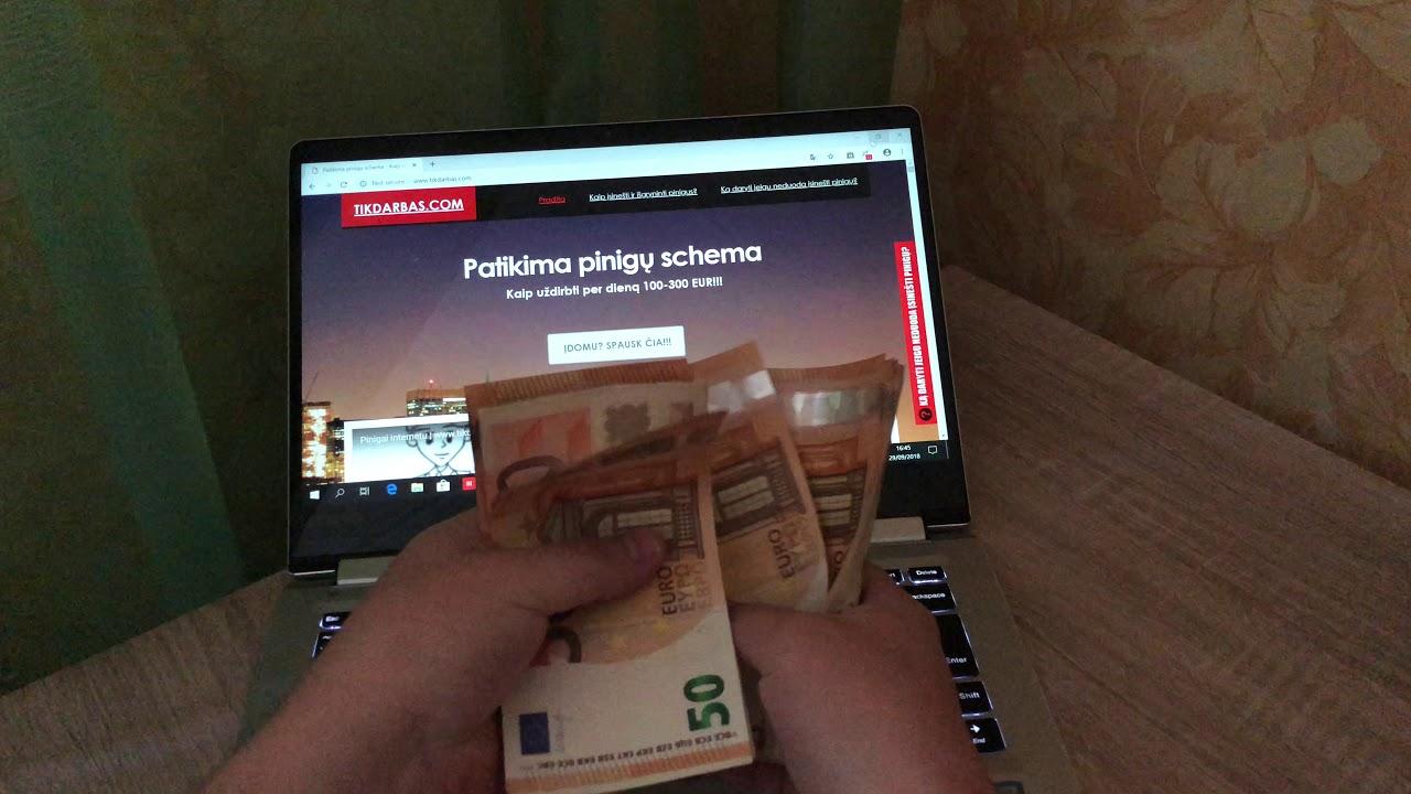 uždarbis internete 100 eurų per dieną kas yra tendencijų kanalas