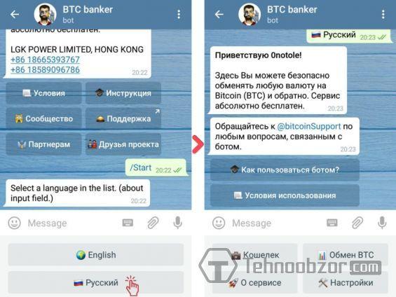 btc telegrama