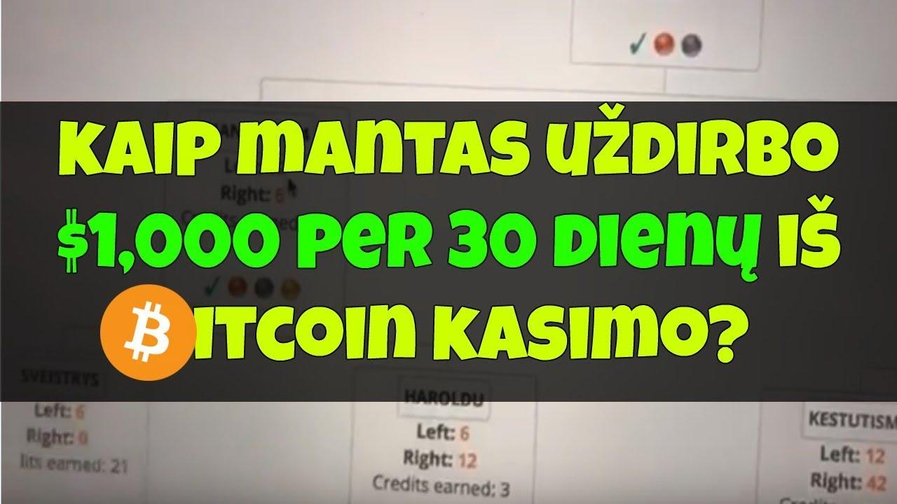prekybininkas bitkoinais kur sudaro