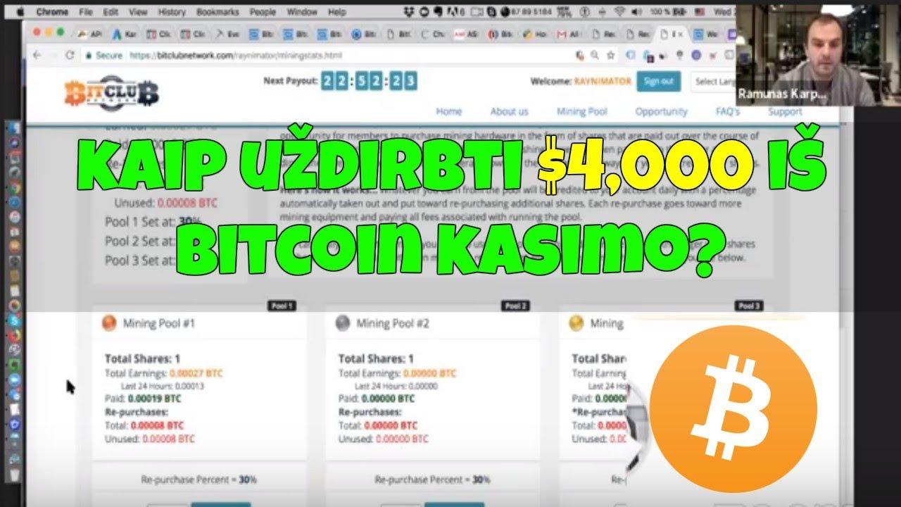 Ar tikrai galite uždirbti pinigų su bitcoin.