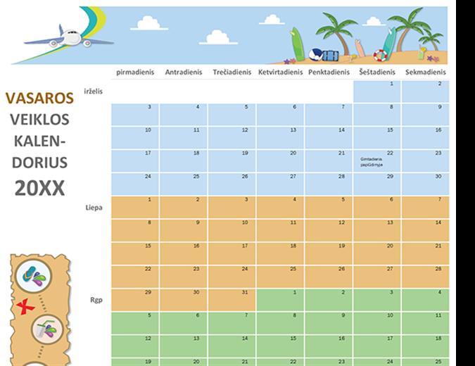 kalendoriaus paskirstymo parinktis apie ką kalba tendencijų linijos